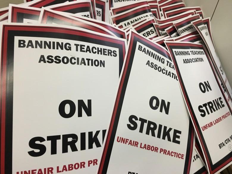 Banning Strike Signs