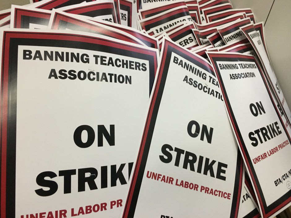 Banning Strike Signs